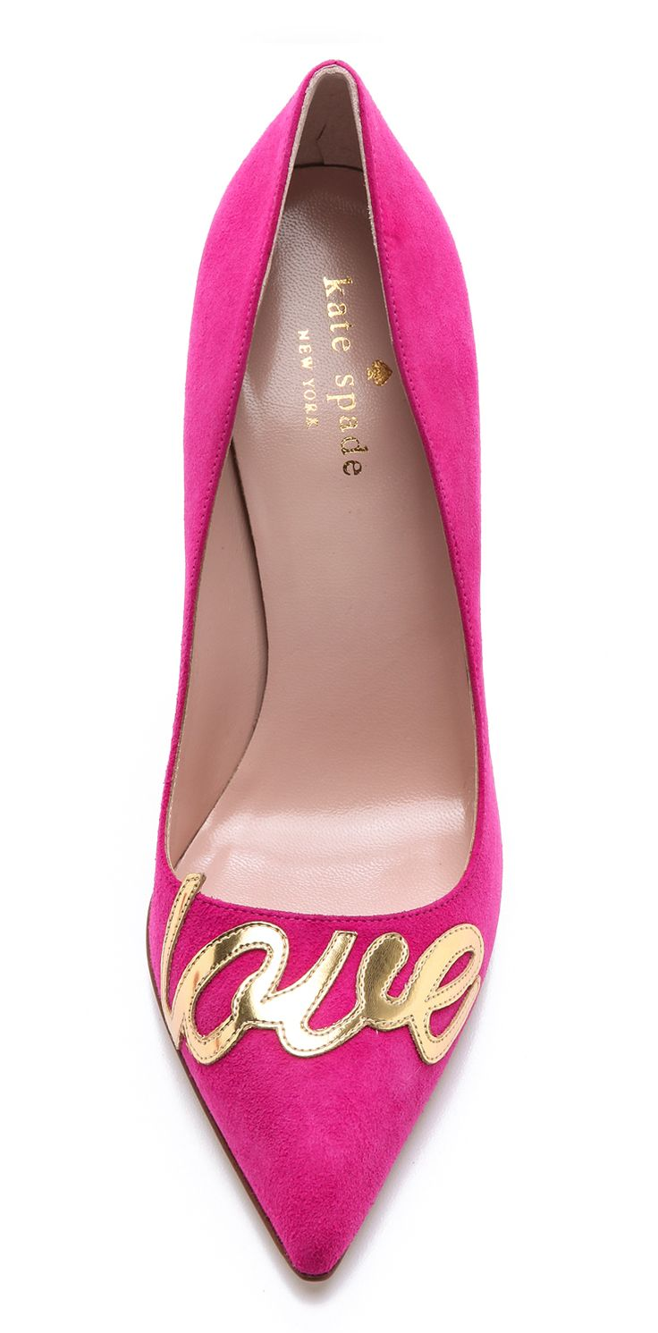 Kate Spade Love Pumps: these would be cute to wear as a wedding shoe if they came in blue