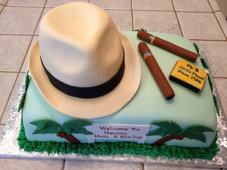 Cuban themed birthday cakes