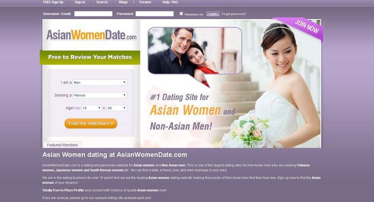 Asian Women Date website