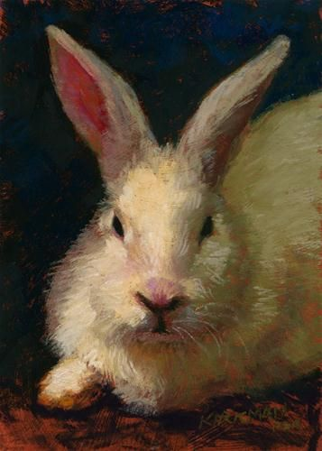 White Rabbit | BUNNY ART- HOW TO DRAW AND PAINT RABBITS ...