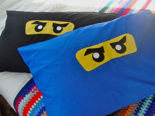 """Lego Ninjago Reader, Spinner and making this pillowcase for my trainer's son from Santa's """"helper."""""""