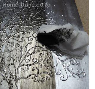 Christmas art using aluminium tape