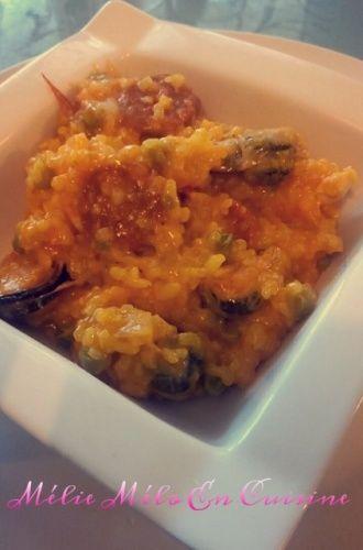 risotto façon paella ( avec ou sans thermomix )