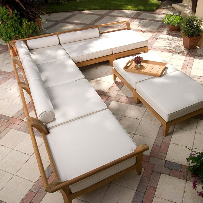 Exclusively Designed For Westminster With Its Distinctive Sweeping Lines  And Architecturally Low Profile Frame, The. Rattan Outdoor FurnitureTeak ...