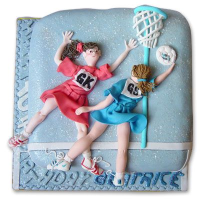 Netball cake - I think this would be a good birthday cake for some of our players!