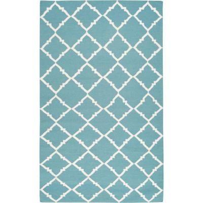 Artistic Weavers Dorado Teal Green 8 ft. x 11 ft. Flatweave Area Rug-Barinas-811 - The Home Depot.  $457