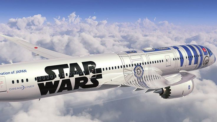 It may not be able to make the Kessel Run in less than 12 parsecs, but All Nippon Airways' first Star Wars-themed plane is now flying the friendly skies.  Over the weekend the company's R2-D2 ANA Jet — named for and dressed up to resemble the intrepid trashcan-shaped droid — flew an brief fan-appreciation flight over Haneda, Japan, and then embarked on its first international journey, from Haneda to Vancouver, Canada.