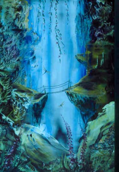 Another bridge to cross (encaustic wax)  Barry Moulton