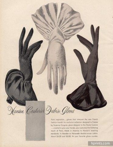 Hansen gloves ad from 1946. #vintage #gloves #1940s                                                                                                                                                                                 More