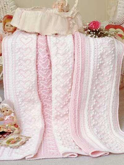 Heart Strings Afghan, free crochet pattern.