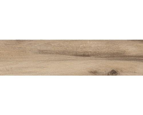 Feinsteinzeug Bodenfliese Baita marrone 15,3x100 cm