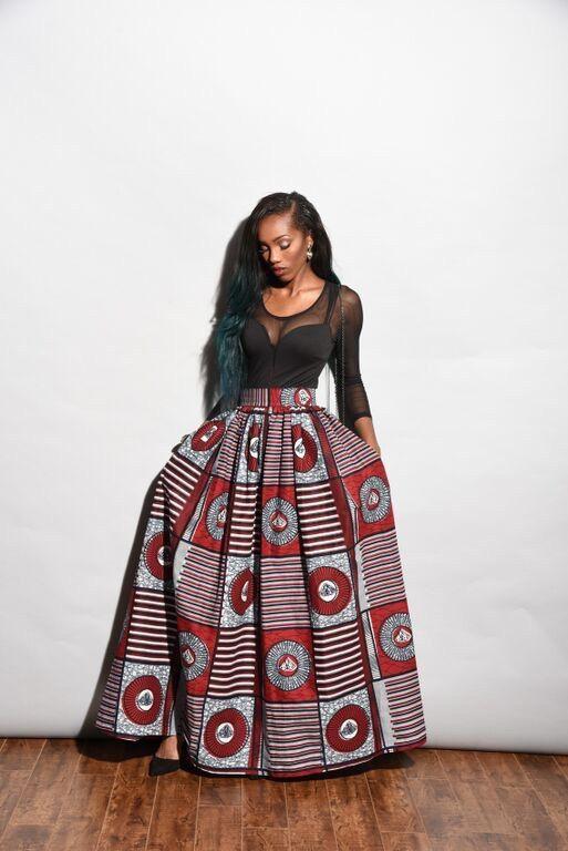 Dana African Wax Print Maxi skirt. Ankara print african by RAHYMA ~African fashion, Ankara, kitenge, African women dresses, African prints, African men's fashion, Nigerian style, Ghanaian fashion ~DKK