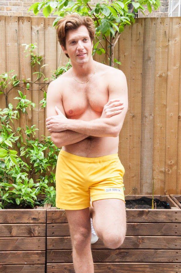 Marco wearing yellow Club Soho shorts http://www.clubsoho.co.uk/#!product/prd1/3676250351/yellow-shorts
