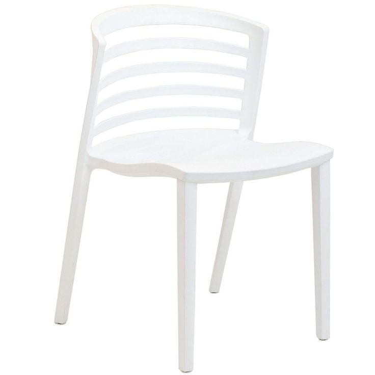 Exceptionnel LexMod Curvy White Plastic Chair