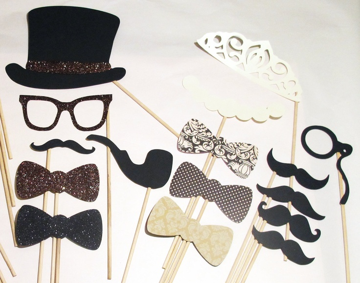 Vintage Inspired Photo Booth Props Features By Paperandpancakes