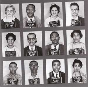 Freedom Riders.  60 different Freedom Rides crisscrossed the south. 450 riders participated and over 300 were arrested for defying the Jim Crow Laws.
