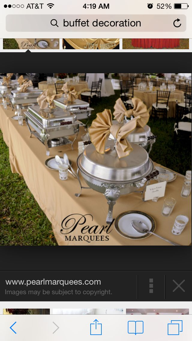 jazzing up standard display good idea for chafing dish lids