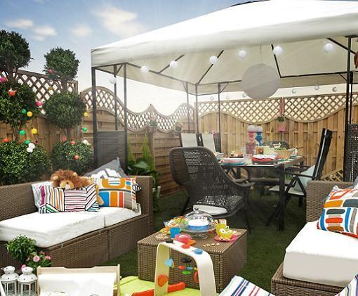Sombrillas y cenadores de ikea para tu terraza y jard n for Terrazas pequenas ikea