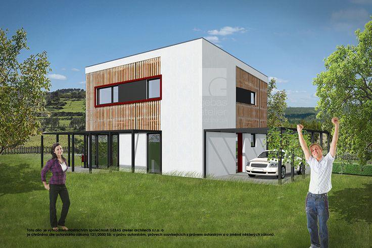 Dům je navržen v duchu moderní architektury. Navržený typ zastřešení teras působí vzdušně, v kombinaci s popínavou zelení tvoří příjemná zákoutí pro posezení.