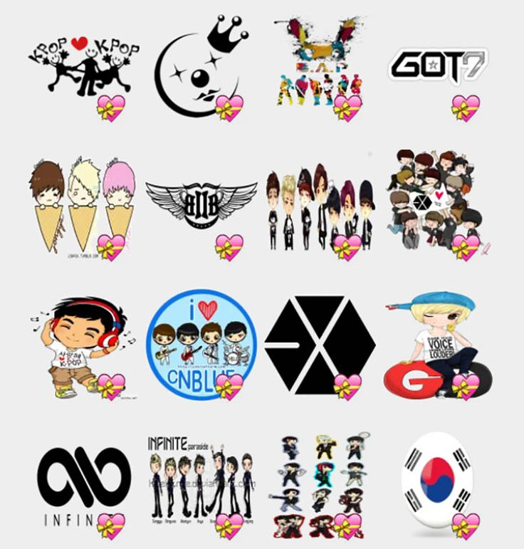 Kpop Cute Animes Stickers Set Telegram Stickers