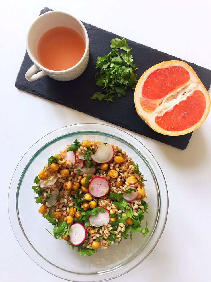 {Vegan} Grapefruit Grain Salad with Roasted Chickpeas| Whisk and Shout