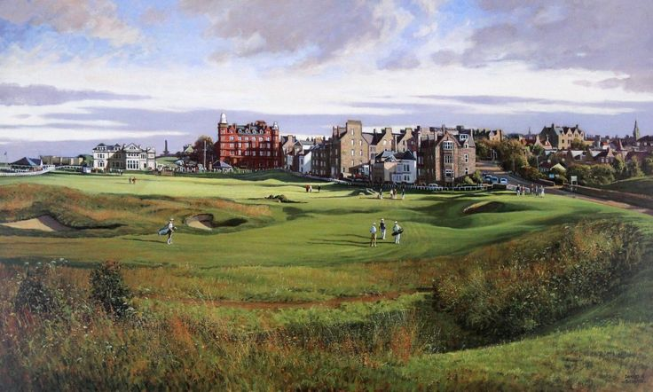 Donald Shearer the 17th Road Hole, St Andrews Signed Limited Edition Print | Scottish Contemporary Art