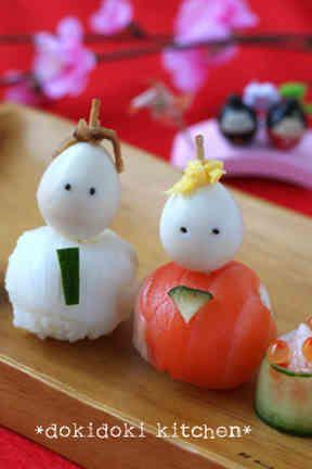 ひな祭りに♡手まり寿司のお雛様の画像