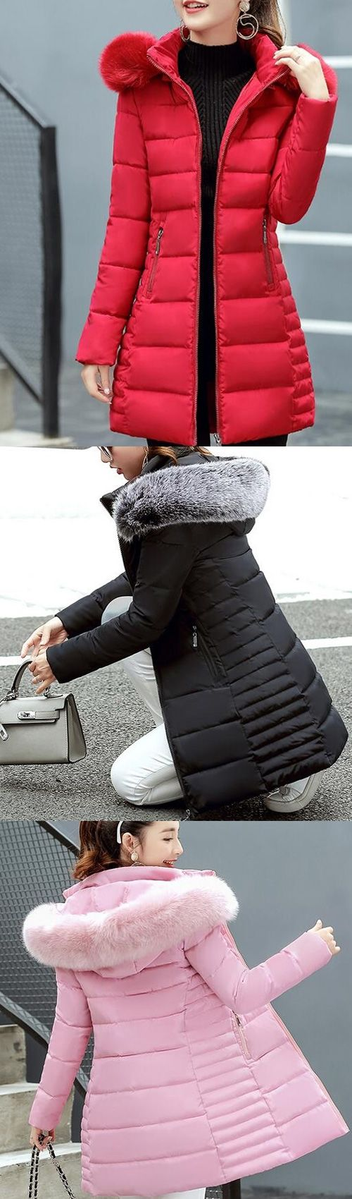Women's Street chic Going out Long Padded Coat