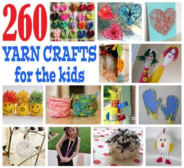 Yarn Crafts : Yarn crafts, Easy yarn crafts and Yarns on Pinterest