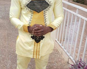 Chemise homme Ashanti en spécial Occasion broderie africaine