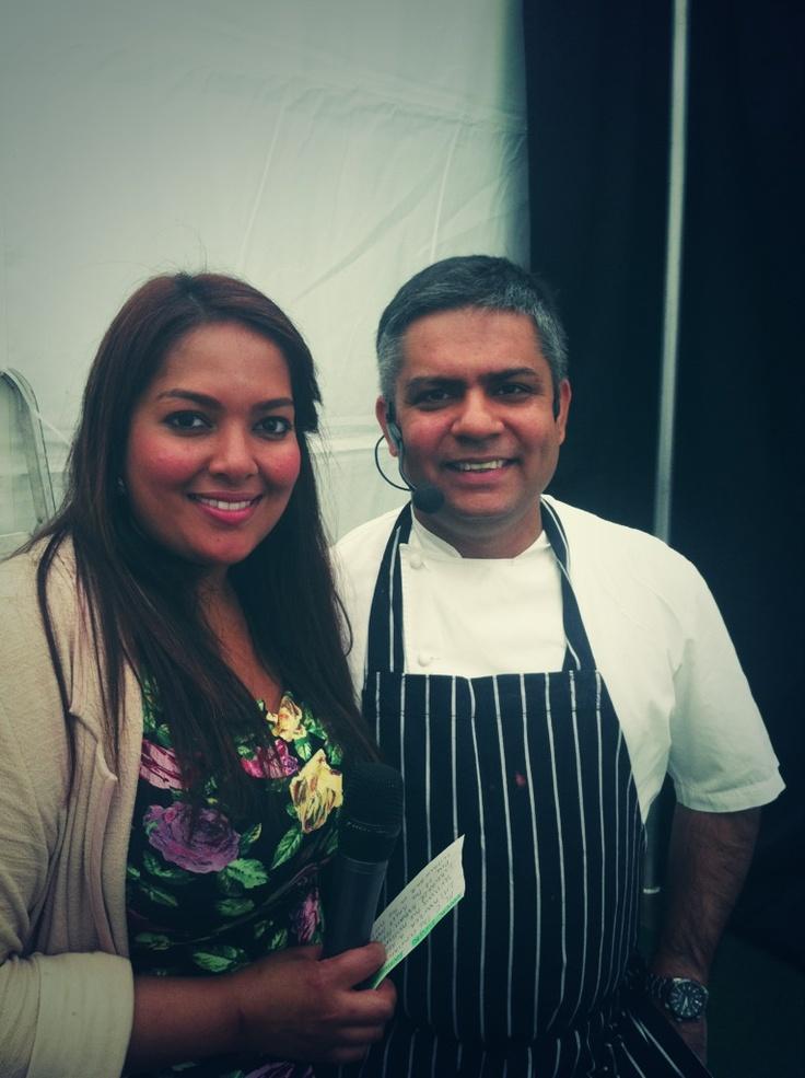 MasterChef winner Shelina Permalloo and The Cinnamon Club chef Vivek Singh.