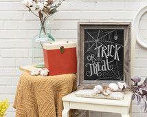 Süßes oder Saures Sign - Halloween Tafel Art - Halloween Dekor-schwarz und weiß Halloween-Halloween-Kunst