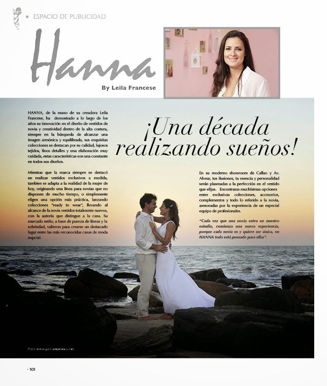 I  L@vE my wedding dress !: HANNA en NOVIAS MAGAZINE !