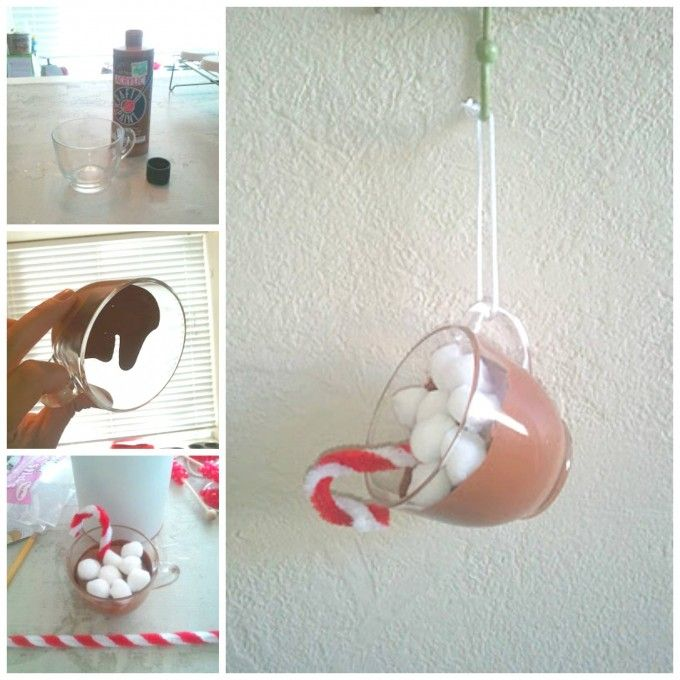 DIY Hot Chocolate Ornaments...these are the BEST Homemade Christmas Ornament Ideas!