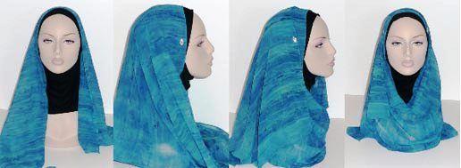Хиджаб цвета морской волны