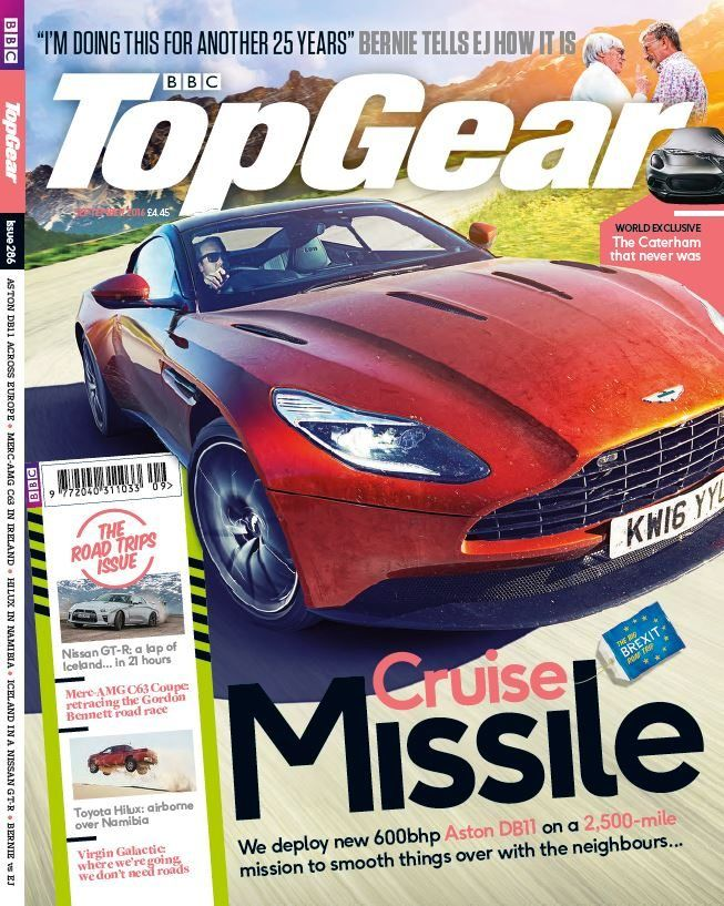 """In this issue;  We deploy new 600bhp Aston DB11 on a 2,500- mile mission to smooth things over with the neighbours...  Bernie tells us and EJ how it is- """"I'm doing this for another 25 years""""  We chat to the legendary Lewis Hamilton- learn about cars, motorbikes and his next move?  Need a good movie for the road?> Top gears top 9 road trip movies  Bristol is back from the dead... but who are Bristol?- Bristol is under new ownership and has a magic bullet"""