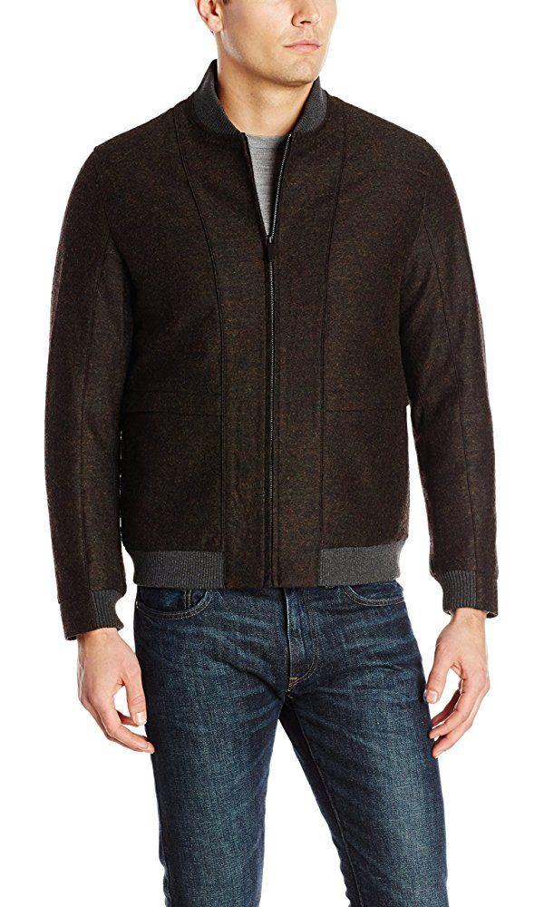 Perry Ellis Men's Multicolor Bomber Jacket, Rosin, X-Large Best Price