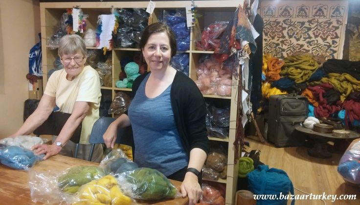 Traditional Turkish Felt - Kece Making Class with our guests from Canada - April 2016 / Sultanahmet - ISTANBUL http://www.bazaarturkey.com/tours/turkish_feltmaking_workshops.html