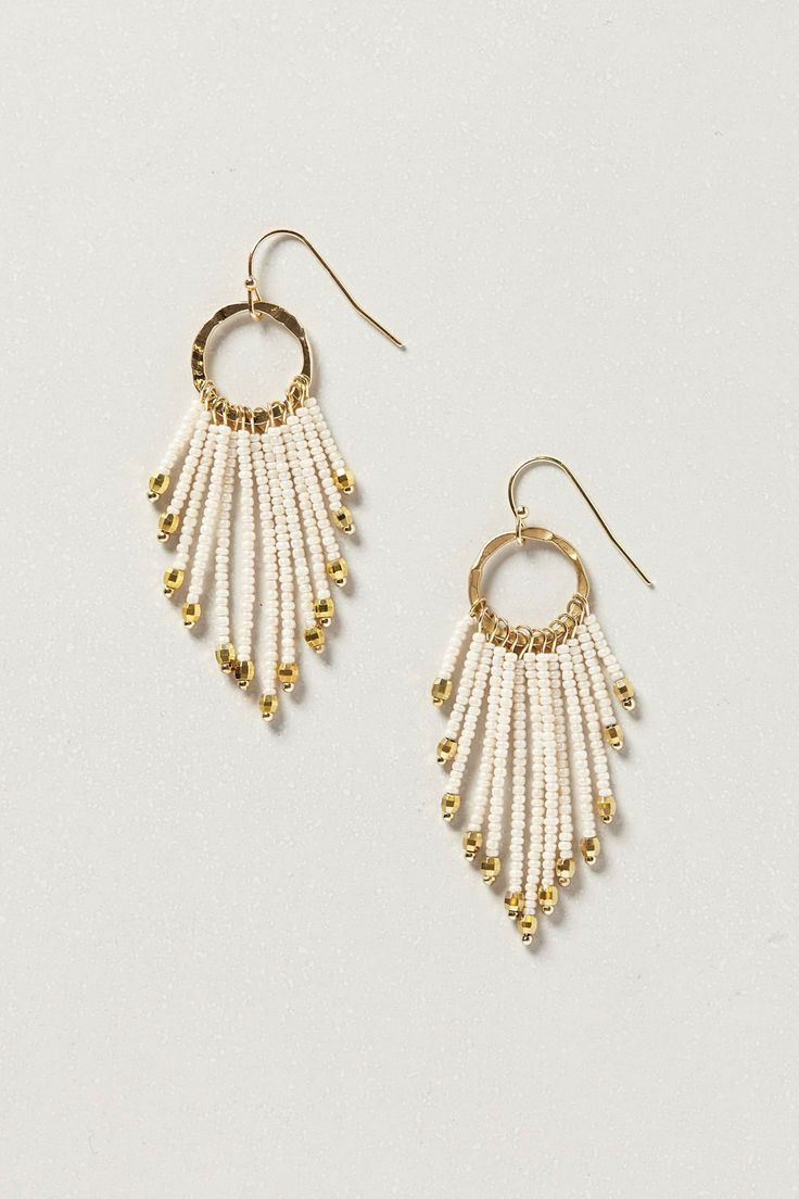 Anthropologie  Maroubra Fringe Earrings