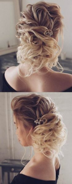 Featured Hairstyle: tonyastylist (Tonya Pushkareva); www.instagram.com/tonyastylis; Wedding hairstyle idea.