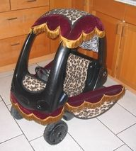 I think pimping your Cozy Coupe is just TOO much but I just had to pin it.