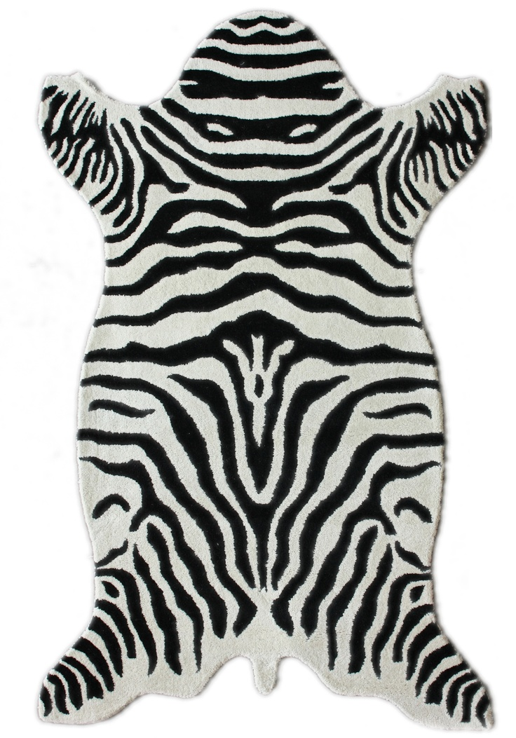 Nuloom Safari Zebra White Rug Rugs Hand Tufted Rugs