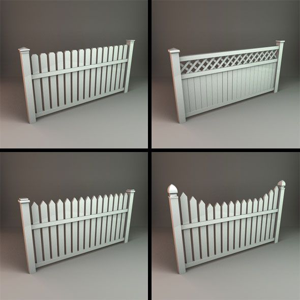 This is a pack of 4 different Picket Fence models for use in your scene. Low poly count 3D models. Price: $12