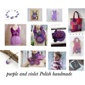 Purple and violet Polish handmade products