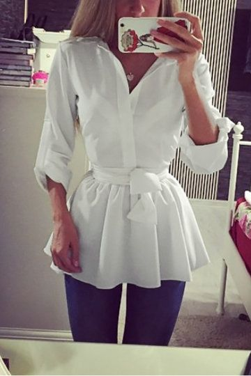 White See-through Cross Strap Shirt Dress with Self-tie Design utm_source=pinterest&utm_medium=share&utm_content=LSY