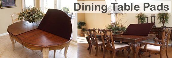 Buy Table Pads is proud to offer dining room table pad covers to protect your dining room tables from heat, scratches, gauges and spills.