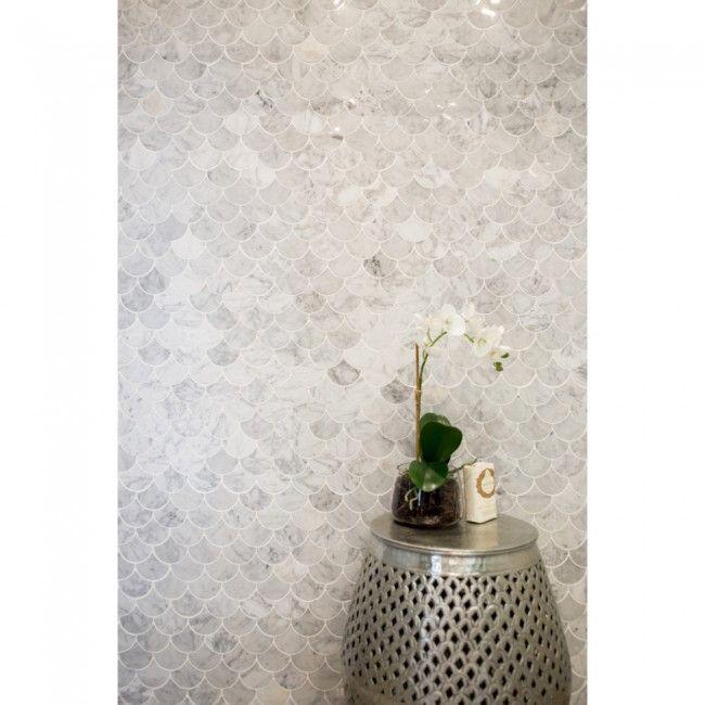 Carrara Marble White Fan
