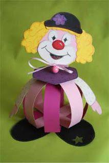 Clown Purim centerpiece