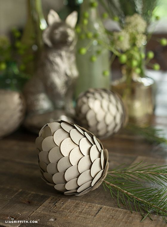 DIY Woodland Paper Pine Cones | A well, Circles and ...