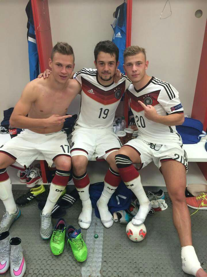 Soccer ... Joshua Kimmich, Amin Younes and Max Meyer
